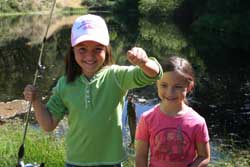 Girls Fishing at the Reserve